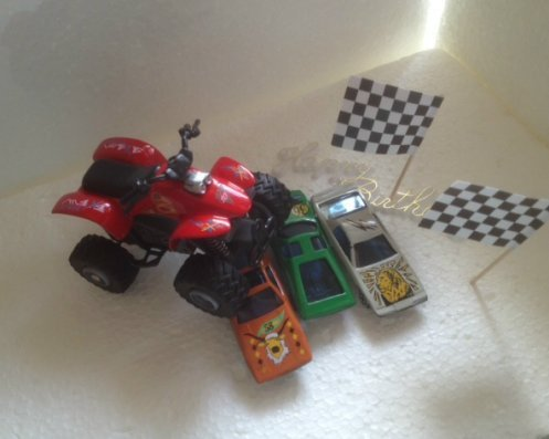 Set 4-Wheels racing rot