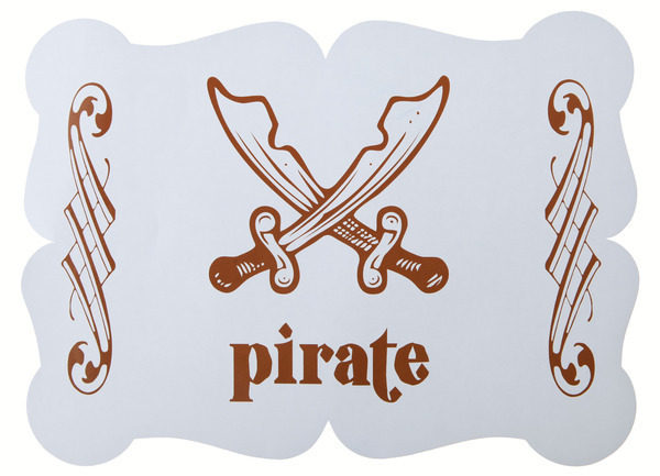 6 Tischset Piraten