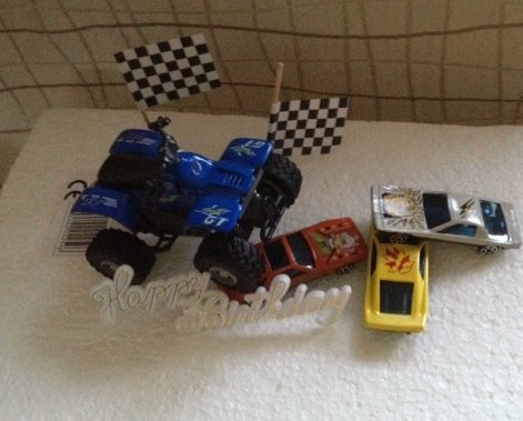 Set 4-Wheels racing blau