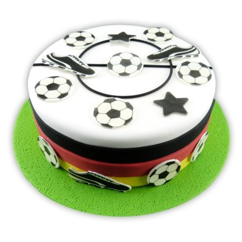 Set Tortendekoration Tattoo Fussball